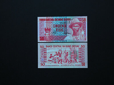 GUINEA BISSAU QUALITY  50  PESOS   p10  1990   GREAT UNC NOTES WITH BOLD IMAGES