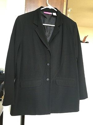 Liz Lange Maternity Blazer Size 12 Black Stretch