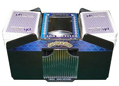 NEW Automatic Playing Card Shuffler 1- 4 Decks Battery Operated Easy Free Ship *