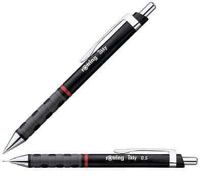 Black Rotring Tikky F Blue Ink Ball point Pen + Black Mechanical pencil 0.5mm