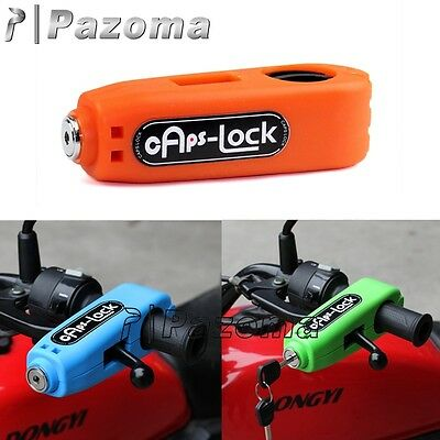 Croc-Lock Motorcycle Scooter Handlebar Throttle Grip Lock Security Lock Orange