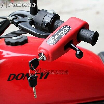 Red Croc-Lock Motorcycle Scooter Handlebar Throttle Grip Lock Security Lock Cbr