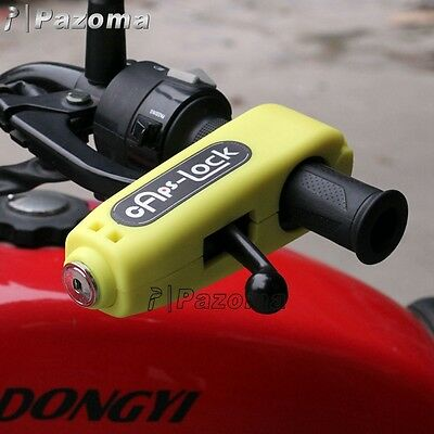Yellow Croc-Lock Motorcycle Scooter Handlebar Throttle Grip Lock Security Lock