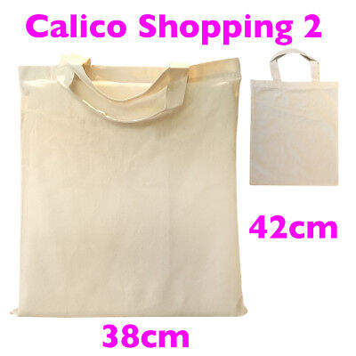 A3 Calico Bags Carry  Double Handle Bulk Calico Bags H42cm*W38cm Style 2: 15-200