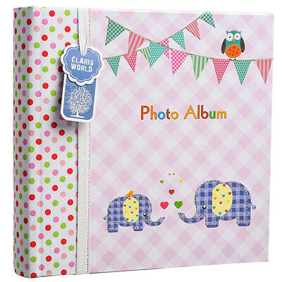 Large Pink Baby Girl Photo Album Holds 200 Photos 4' x 6' Ideal Gift -BA-9857