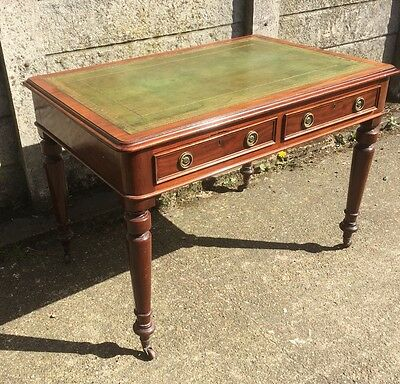 Superb Victorian Mahogany Library Writing Table/Desk Very Clean 2 Man Delivery