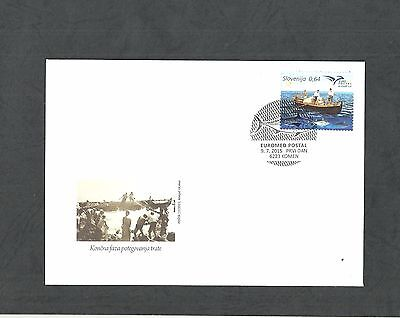 2015- Slovenia -Boats in Euromed, Joint & common issue- FDC