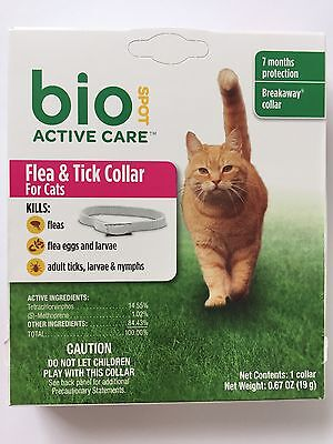 Bio Spot Flea & Tick Collar for Cats Breakaway fit 7 months Protection