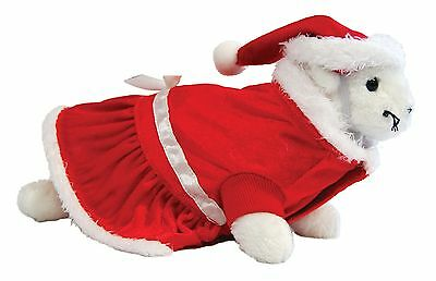 Marshall Ferret Toy Dog Fashion Deluxe Santa Suit Hat Costume - Deluxe Santa