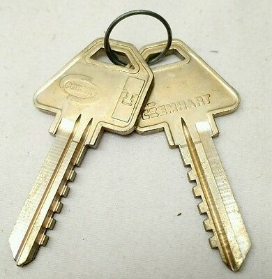 NEW Qty: 2 VINTAGE Corbin High Security EMHART 60-6Pin-90 blank key SOLID BRASS