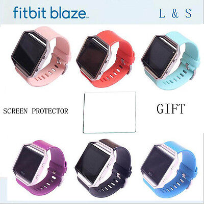 Replacement Band for Fitbit Blaze Watch Strap Wristband with Screen Protector