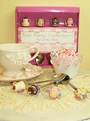 Quirky Cake Tea Pot Tea Spoon Set
