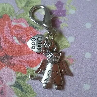 Pet Angel Love My Dog Memorial Charm - Bag Purse Zipper Pull
