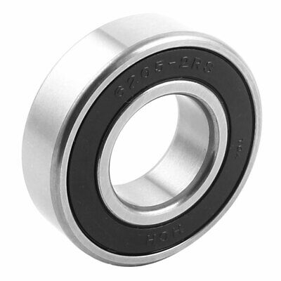 52mm x 25mm x 15mm 6205-2RS Sealing Rubber Groove Ball Wheel Bearings