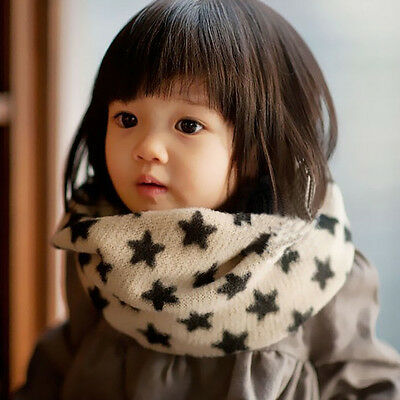 winter Kid Children Cotton Scarf Neckerchief Color Star Design baby wool