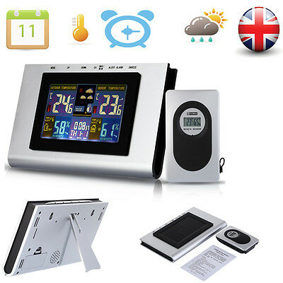 Wireless backlight Weather Station & Sensor Temperature Humidity Time Date Clock