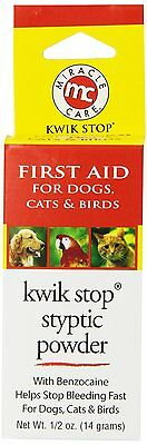 Kwik Stop Styptic Powder for Pets by Miracle Care (Size: .5 ounce) NEW (AOI)