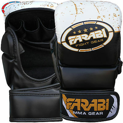 7-oz Semi Pro Gloves Hybrid Cage Fighting MMA Grappling Punching Boxing Sparring
