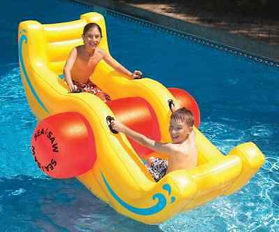 "NEW 90"" Seesaw Big Rocker Ride-On Inflatable Pool Toy Swimming Water Kids Float"