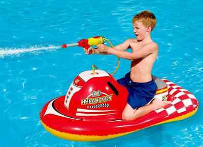"NEW 55"" Wave Runner Water Gun Ride-On Inflatable Pool Toy Swimming Kids Float"