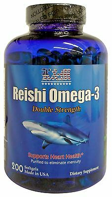 K&M Reishi Omega-3 Fish Oil DOUBLE STRENGTH (200 SoftGels)