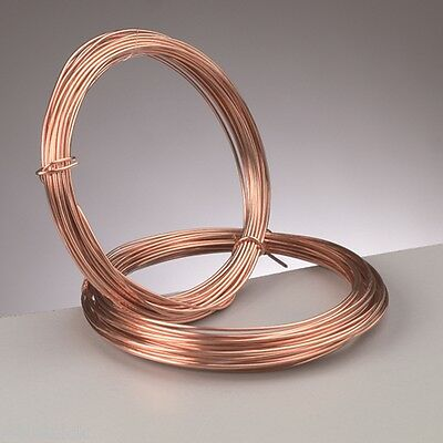 1.5 mm (14 gauge) PURE COPPER  CRAFT/JEWELLERY WIRE  1.75 metres