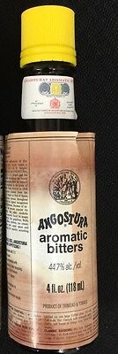 Angostura Aromatic Bitters 4 oz cooking sauce drinks gourmet stained labels