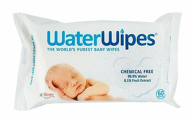 WaterWipes Natural Sensitive Chemical-Free Baby Wipes 4x60 Wipes 240 Wipes