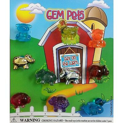 """( DISPLAY) for 1"""" ASSORTED GEM PETS SERIES 3 COLORFUL COLLECTIBLES for VENDING"""