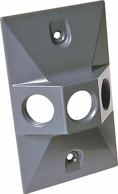 (LOT OF 3) 5189-0 Hubbell Bell Wet Location Gray 3 Hole Lampholder Outlet Cover