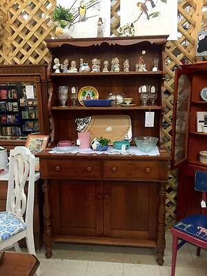 Antique SOLID CHERRY Hutch