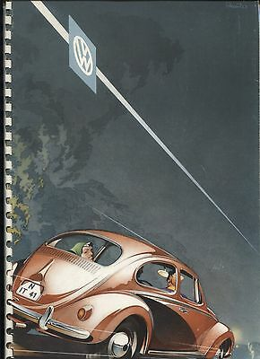 N°8137 / VOLKSWAGEN : catalogue à spirales  deutsch text  1957 Personenwagen