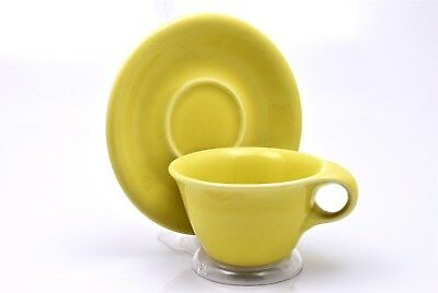 Sterling China by Russel Wright Chartreuse Cup and Saucer(s)