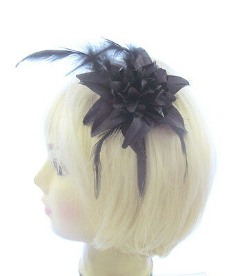 black fascinator headband for ladies day. special outings