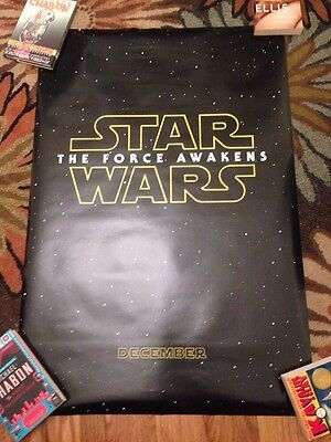 Star Wars The Force Awakens Double Sided Theatrical 27x40 Teaser Poster Rolled