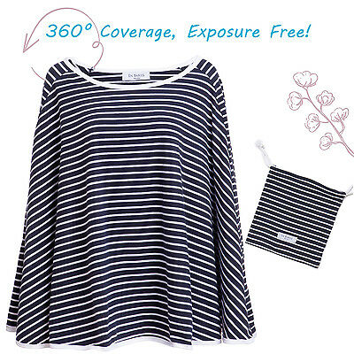 Full Coverage Nursing Cover for Breastfeeding - 360 Degree Luxury Poncho Style