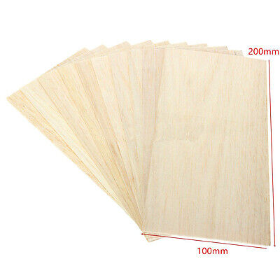 5Pcs Wooden Plate Model Balsa Wood DIY House Ship Aircraft Light 200x100x1.5mm
