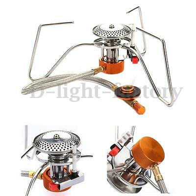 Portable Steel Gas Burner Stove For Outdoor Picnic Hiking Camping Backpacking