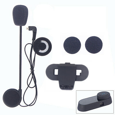 Mic/Speaker/Headset+Clip Kit for TCOMVB Motorcycle BT Helmet Intercom Interphone