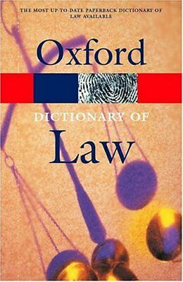 A Dictionary of Law (Oxford Paperback Reference) Paperback Book The Cheap Fast