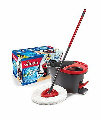 Vileda Easy Wring Spin Mop & Bucket System Deep-cleaning microfiber removes CXX