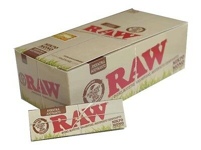 Box of 50 Raw Organic Hemp single wide Rolling Paper 50sheets/booklet *Full Box*