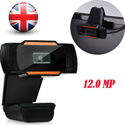 Clip-on USB 2.0 Webcam Camera 360°HD 12.0 MP With Microphone MIC for PC Computer