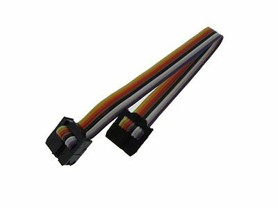 2x4 8-Pin IDC JTAG ISP Cable Ribbon Cable