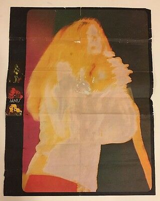 Vintage Poster Janis Joplin The Electric Last Minute Psychedelic Pin-up 1960's