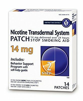 2 Pack - Habitrol® Step 2 Nicotine Patch Transdermal System 14mg 14 Patches Each