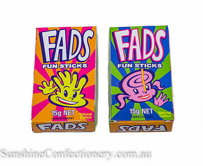 FADS FUN STICK LOLLIES - 12 packets - FYNA-loot bags