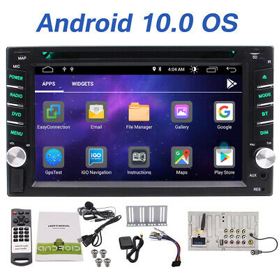 Double 2DIN Android 9.0 GPS Navi Car Stereo DVD Player BT HD Radio MP3 Free WiFi