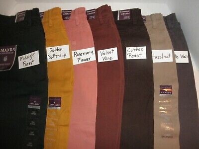 NWT Gloria Vanderbilt Amanda PLUS Heritage Fit classic rise pants Colored Jeans