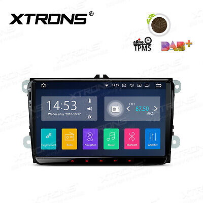 XTRONS 1 DIN Car GPS Quad Core Android 7.1 Car Stereo For VW Passat Golf MK5 MK6